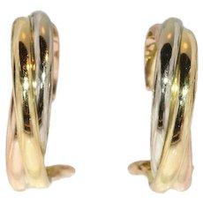 Cartier Gold Trinity Clip On Earrings ca.1980