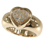 Piaget Gold and Diamond Heart Ring ca.1980