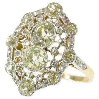Belle Epoque Diamond Engagement Ring ca.1910