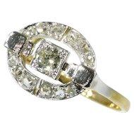 Art Deco Diamond and Gold Ring c.1925