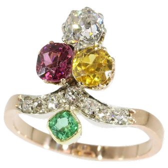 Victorian Gemstone and Gold Ring c.1890