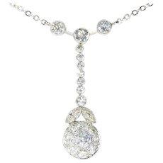 French Art Deco diamond pendant necklace ca.1920
