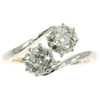 Antique Certified Diamonds Engagement Ring Rose Gold c1900