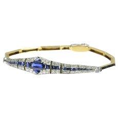 Art Deco Sapphire and Diamond Bracelet ca.1920