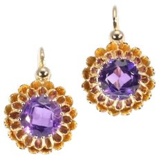 Victorian Amethyst and Gold Earrings France ca.1870