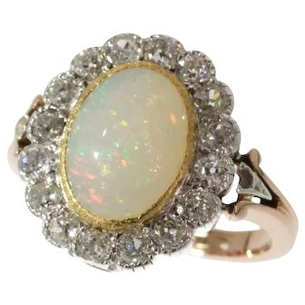 Victorian Opal and Diamond Ring ca.1880