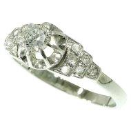 French Art Deco Diamond Engagement Ring ca.1930