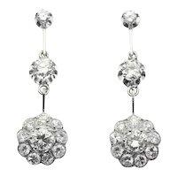 Glimmering Estate Diamond Dangle Earrings, 1950s               (ref. 16250-0090)