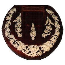 Natural seed pearl parure necklace pendant brooch Georgian Era antique jewellery