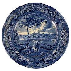 Early Victorian Staffordshire Blue Transferware Plate – ca. 1822-1835