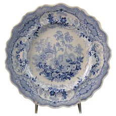 Early Victorian Transferware Plate – Adelaide's Bower ca. 1830s