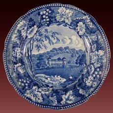 Early Victorian Blue Transferware Plate – ca 1830