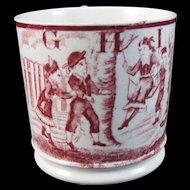 English Staffordshire 19th Century ABC Child's Transferware  Mug