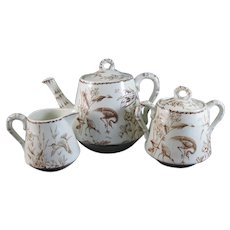 English Aesthetic Transferware Tea Set - 1877 (30% off)