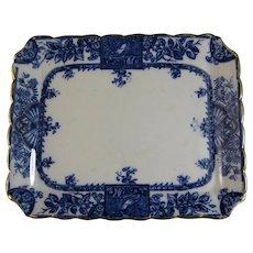 Victorian Aesthetic Transferware Platter - Birds ca. 1885
