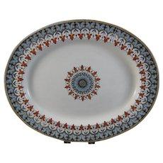 English Victorian Transferware Oval Platter  - Copeland Denmark Late 1800s