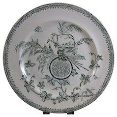 Large Aesthetic Transferware Plate - 1884