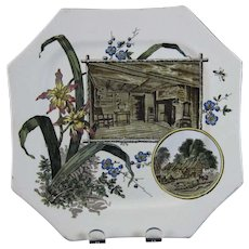 English Aesthetic Movement Transferware Plate - 1884