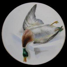 English Victorian Cabinet Plate - Game Bird - Mallard