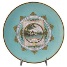 Victorian Aesthetic Transferware Polychrome Plate – 1870-80