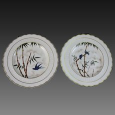 Pair of Aesthetic Movement Plates – Mintons ca.1880