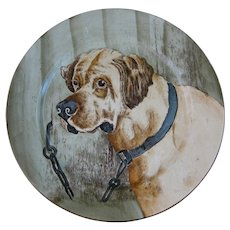 Large Antique Victorian Cabinet Plate – English Mastiff ca. 1905 (30% OFF)
