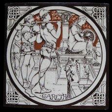 Aesthetic Movement Moyr Smith Victorian Tile – Gareth ca. 1876