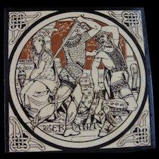 Aesthetic Movement Moyr Smith Victorian Tile – Geraint ca. 1876