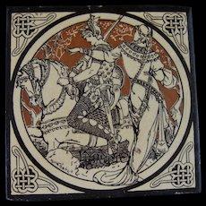 Aesthetic Movement Moyr Smith Victorian Tile – Lynette ca. 1876