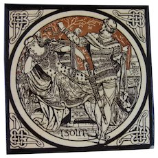 Aesthetic Movement Moyr Smith Victorian Tile – Isolt ca. 1876