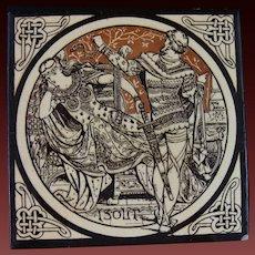 Aesthetic Movement Moyr Smith Victorian Tile – Isolt ca. 1876