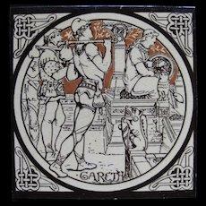 Aesthetic Movement Moyr Smith Tile – Gareth ca. 1876