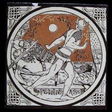 Aesthetic Movement Moyr Smith Victorian Tile – Pelleas ca. 1876