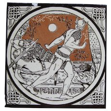 Aesthetic Movement Moyr Smith Victorian Tile – Pelleas ca. 1876