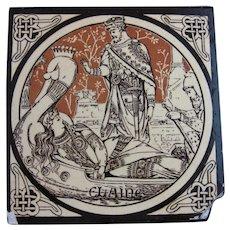 Aesthetic Movement Moyr Smith Victorian Tile – Elaine ca. 1876