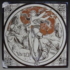 Aesthetic Movement Moyr Smith Victorian Tile – Vivien ca. 1876