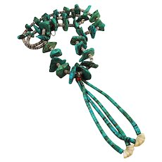 Turquoise and Jacla Necklace Native American
