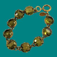 Catherine Popesco French Olivine Crystal Bracelet