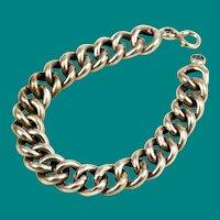 Victorian White Gold Filled Curb Bracelet