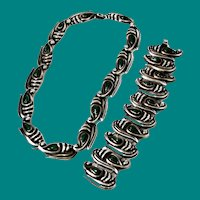Mexican Green Onyx Sterling Necklace & Bracelet