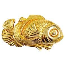 Mimi Di N Large Gold Fish Belt Buckle