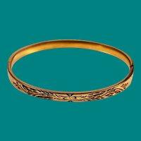 Victorian Gold Filled Bracelet by HF Barrows