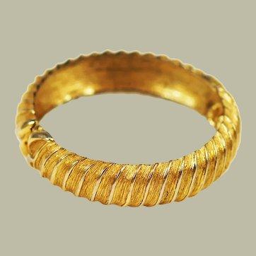 Monet Hinged Gold Tone Bangle Bracelet