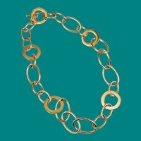 Ralph Lauren Gold Plated Link Necklace Chain