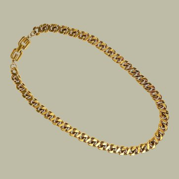 Givenchy Gold Chain Necklace Signed