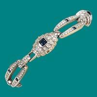 Joan Rivers Sapphire Rhinestone Bracelet