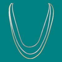 Henkel and Grosse Tri-Color Gold Plated Necklace