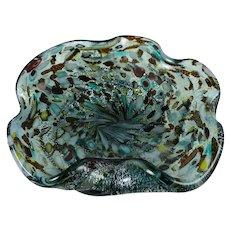 Arte Vetraria Muranese Tutti Frutti Murano Glass Bowl Mid-Century