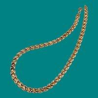 Fancy Gold Link Necklace Italian 10K