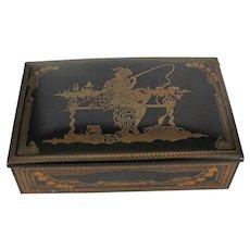 Antique - Art Nouveau Metal Trinket - Jewelry Box - Figural